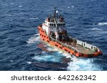 supply boat transfer cargo to... | Shutterstock . vector #642262342