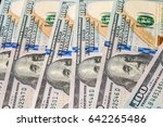 money background from dollars... | Shutterstock . vector #642265486