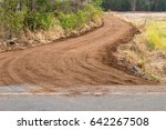 view of the dirt road  the... | Shutterstock . vector #642267508
