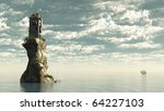 Fantasy Tower Castle On A Rock...