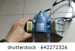 multi purpose respirator half... | Shutterstock . vector #642272326