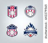 vector design set of baseball... | Shutterstock .eps vector #642279565
