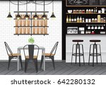 modern flat design kitchen bar... | Shutterstock .eps vector #642280132