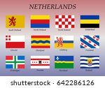 all flags of the dutch states.... | Shutterstock .eps vector #642286126
