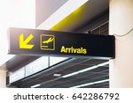 Airport Arrival Sign