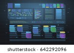 set of hud infographic panels....