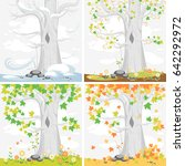 times of the year. seasons.... | Shutterstock .eps vector #642292972