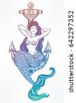 hand drawn artwork of beautiful ... | Shutterstock .eps vector #642297352