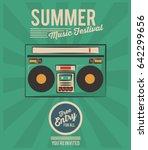 summer music festival stereo...   Shutterstock .eps vector #642299656