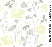 seamless pattern with wild... | Shutterstock .eps vector #642302368
