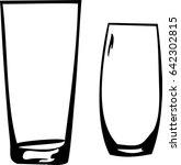 two glasses. sketch....   Shutterstock .eps vector #642302815