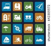 transport icons set. set of 16... | Shutterstock .eps vector #642305572
