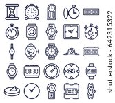 watch icons set. set of 25... | Shutterstock .eps vector #642315322
