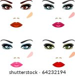 evening make up for eyes of...   Shutterstock .eps vector #64232194