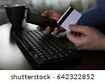 e commerce a man pays for...   Shutterstock . vector #642322852