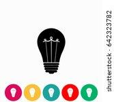 bulb icon vector  vector eps 10 ...