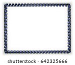 frame and border of ribbon with ... | Shutterstock . vector #642325666