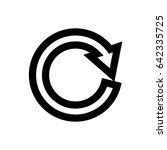 black circle vector arrows