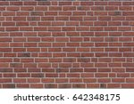 brick background with red ... | Shutterstock . vector #642348175
