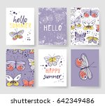 set of templates for summer... | Shutterstock .eps vector #642349486
