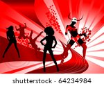 party at a nightclub decorated... | Shutterstock .eps vector #64234984