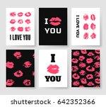 set of templates for romantic... | Shutterstock .eps vector #642352366