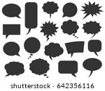 speech bubbles set | Shutterstock .eps vector #642356116