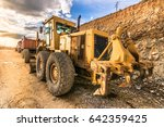 heavy machinery on one site | Shutterstock . vector #642359425