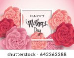 mother's day greeting card with ... | Shutterstock .eps vector #642363388