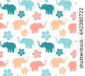 cute colorful seamless vector... | Shutterstock .eps vector #642380722