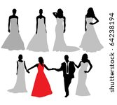 bride silhouette collection... | Shutterstock .eps vector #64238194