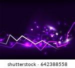 neon lightning vector... | Shutterstock .eps vector #642388558