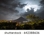 volcano of arenal during... | Shutterstock . vector #642388636