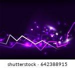neon lightning background... | Shutterstock . vector #642388915