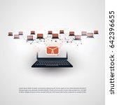 network vulnerability   virus ... | Shutterstock .eps vector #642396655