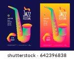 jazz music festival poster... | Shutterstock .eps vector #642396838