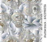 paisleys floral royal elegant... | Shutterstock .eps vector #642398356