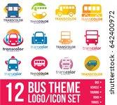 bus logo icon bundle | Shutterstock .eps vector #642400972