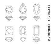 diamonds cut line drawings in... | Shutterstock .eps vector #642401656