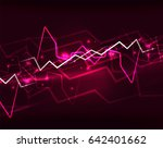neon purple lightning... | Shutterstock . vector #642401662