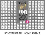 mega set of 100 positive quotes ...   Shutterstock .eps vector #642410875