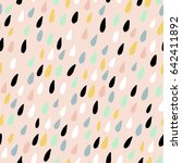 cute seamless pattern with... | Shutterstock .eps vector #642411892