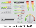 user interface buttons. volume... | Shutterstock .eps vector #642414442