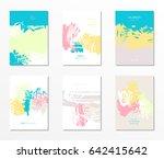 modern grunge brush design... | Shutterstock .eps vector #642415642