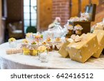 wedding gifts for wedding guest | Shutterstock . vector #642416512