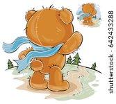 vector illustration of a brown...   Shutterstock .eps vector #642433288