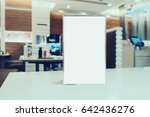 mock up blank menu frame on... | Shutterstock . vector #642436276