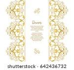 vector gold ornamental ... | Shutterstock .eps vector #642436732