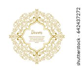 vector gold ornamental ... | Shutterstock .eps vector #642437272