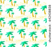 summer seamless pattern with... | Shutterstock .eps vector #642438838